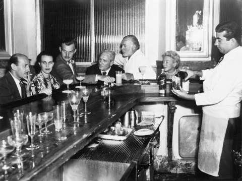 The Hemingways and Spencer Tracy at El Floridita