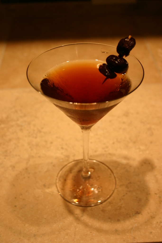 A Manhattan with Brandied Cherries