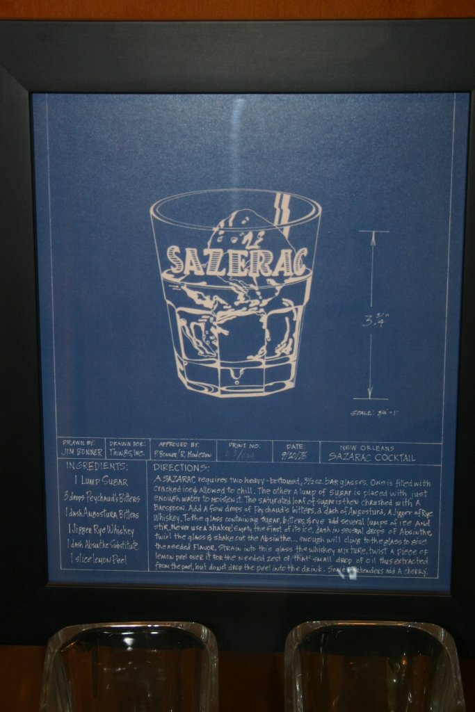 Blueprint of a Sazerac in the Buffalo Trace gallery