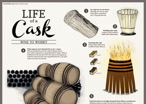 Life of a Wine Barrel Infographic